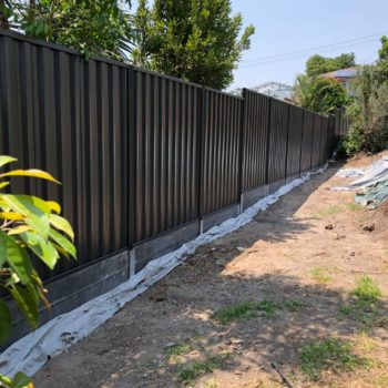 Concrete Sleepers in Brisbane used for retaining wall