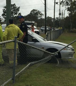 car damage fence